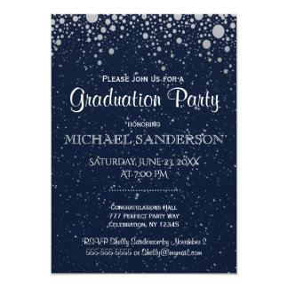 Graduation | Starry Night in Blue Card