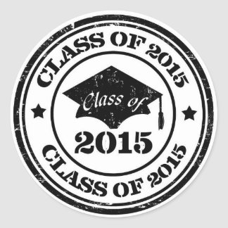 Graduation Stickers - Class of 2015 Grunge Seals