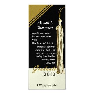 Graduation Tassel Dark Black and Gold Card