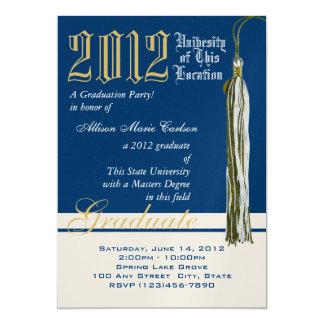 Graduation Tassel Gold and Blue Card