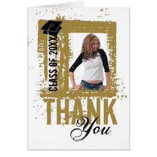 Graduation Thank You Card Add Photo Gold