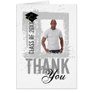 Graduation Thank You Card Add Photo White