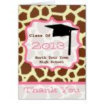 Graduation Thank You Card - Class of 2013 Giraffe