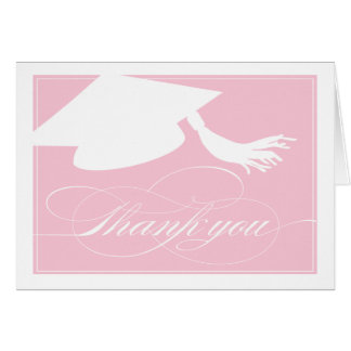 Graduation Thank You Card  |  Pink
