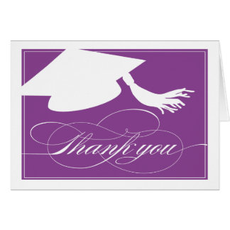 Graduation Thank You Card     Purple