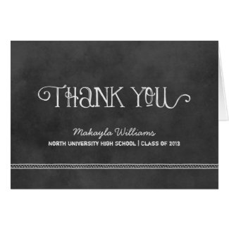 Graduation Thank You Cards | Black Chalkboard