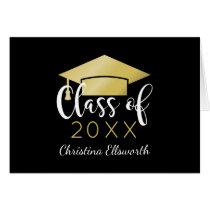 Graduation Thank You Cards   Gold Grad Cap