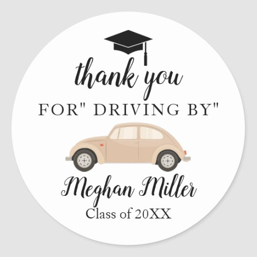 Graduation Thank you drive by sticker