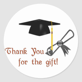 Graduation Thank You for the Gift Stickers