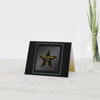 Graduation Thank You Hollywood Star Gold card
