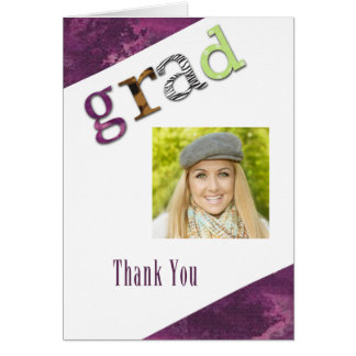 Graduation Thank You Photo Card