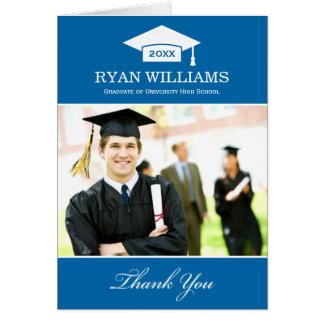 Graduation Thank You Photo Cards | Cobalt Blue