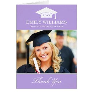 Graduation Thank You Photo Cards | Light Purple
