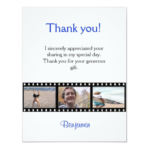 Graduation Thank You Photo Note Card Filmstrip