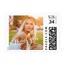 Graduation Thank You Photo Postcard Postage