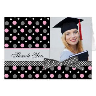 Graduation Thank You Polka dot Photo Card