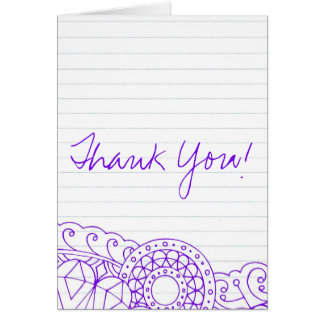 Graduation Thank You Stationery Note Card