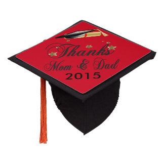 Graduation | Thanks Mom and Dad Graduation Cap Topper