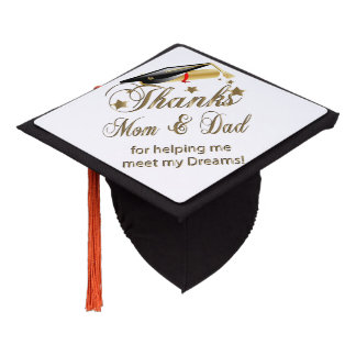 Graduation   Thanks Mom and Dad Graduation Cap Topper