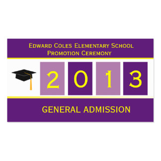 Graduation Ticket Business Card