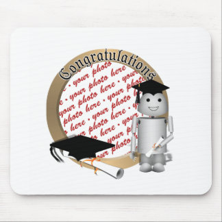 Graduation Time for Robo-x9! Photo Frame Mouse Pad