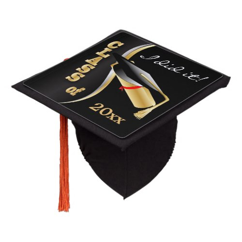 Graduation Time  I did it Graduation Cap Topper
