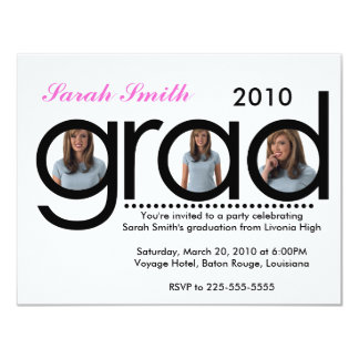Graduation (Top 10 Views) 4.25x5.5 Paper Invitation Card