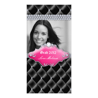 Graduation Tufted Satin Jewelry Sweet 16 Pink Card