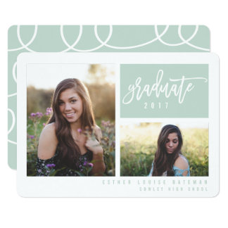 GRADUATION TWIN PHOTO-MINT CARD