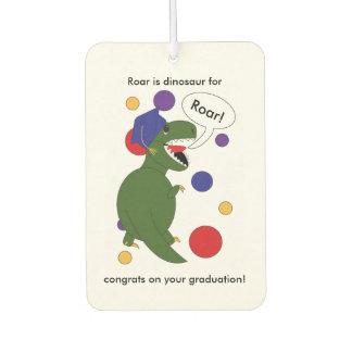 Graduation Tyrannosaurus Rex Customizable Air Freshener