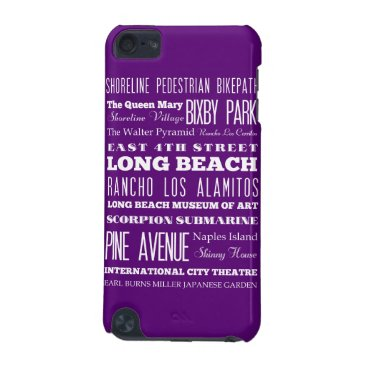 Beach Themed Graduation Unique Long Beach, California Gift iPod Touch (5th Generation) Cover