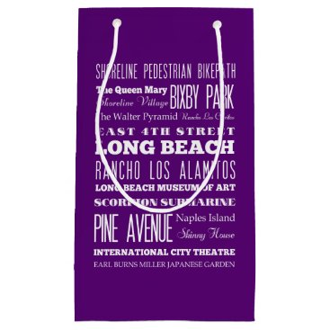 Beach Themed Graduation Unique Long Beach, California Gift Small Gift Bag