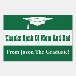 Graduation With Cap Lawn Sign