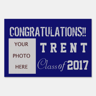 Graduation with photo lawn sign