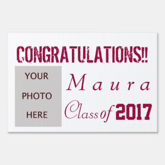 Graduation with photo signs