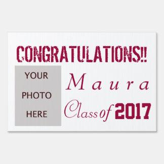 Graduation with photo yard signs