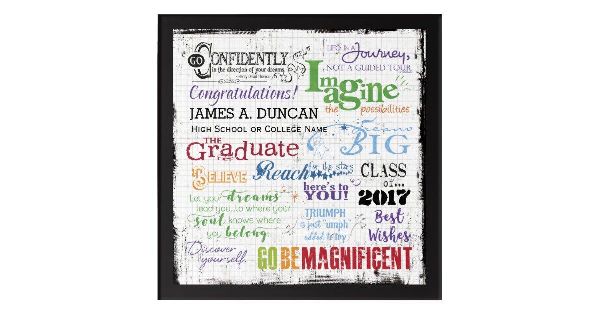 Personalized High School Graduation Word Art. Graduation Gift.  |Word Art For Graduation