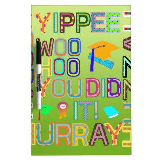 Graduation Words of Joy Dry Erase Board