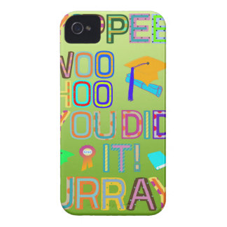Graduation Words of Joy iPhone 4 Cover