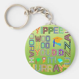 Graduation Words of Joy Keychain