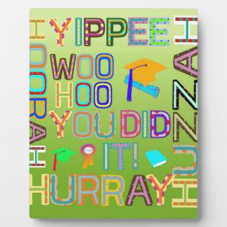 Graduation Words of Joy Plaque