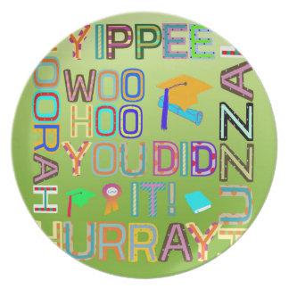 Graduation Words of Joy Plate