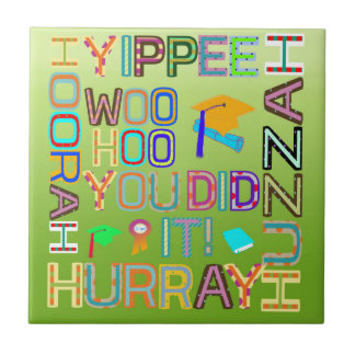 Graduation Words of Joy Tile