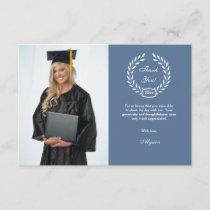 Graduation Wreath Photo Thank You Card