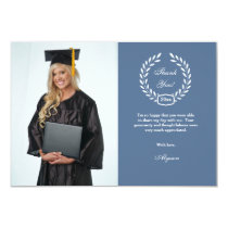 Graduation Wreath Photo Thank You Card