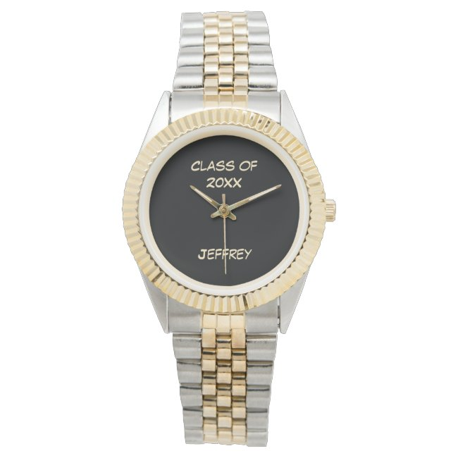 Graduation Wrist Watch, Class of, Two Tone, Unisex