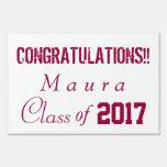 Graduation Yard Sign