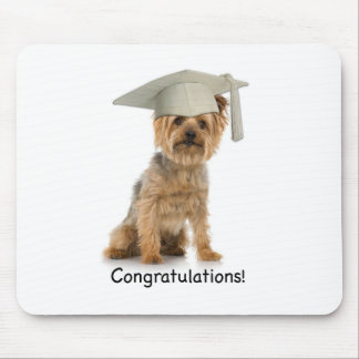Graduation Yorkie Congratulations Mouse Pad