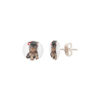 Graduation Yorkshire Terrier Earrings