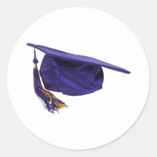 GraduationCap051009 Pegatina Redonda